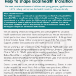 Help us improve the transition to adult health services